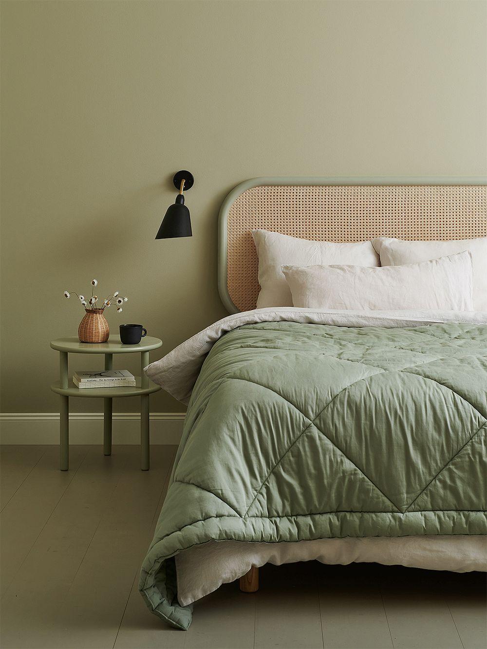Matri Piia double bed cover 260 x 260 cm, sage