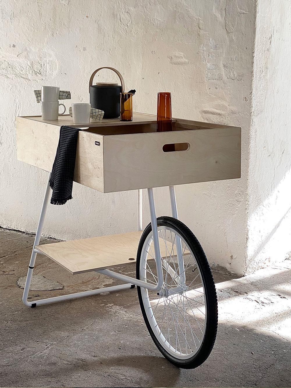 OOJA displays K001 cart, birch - white