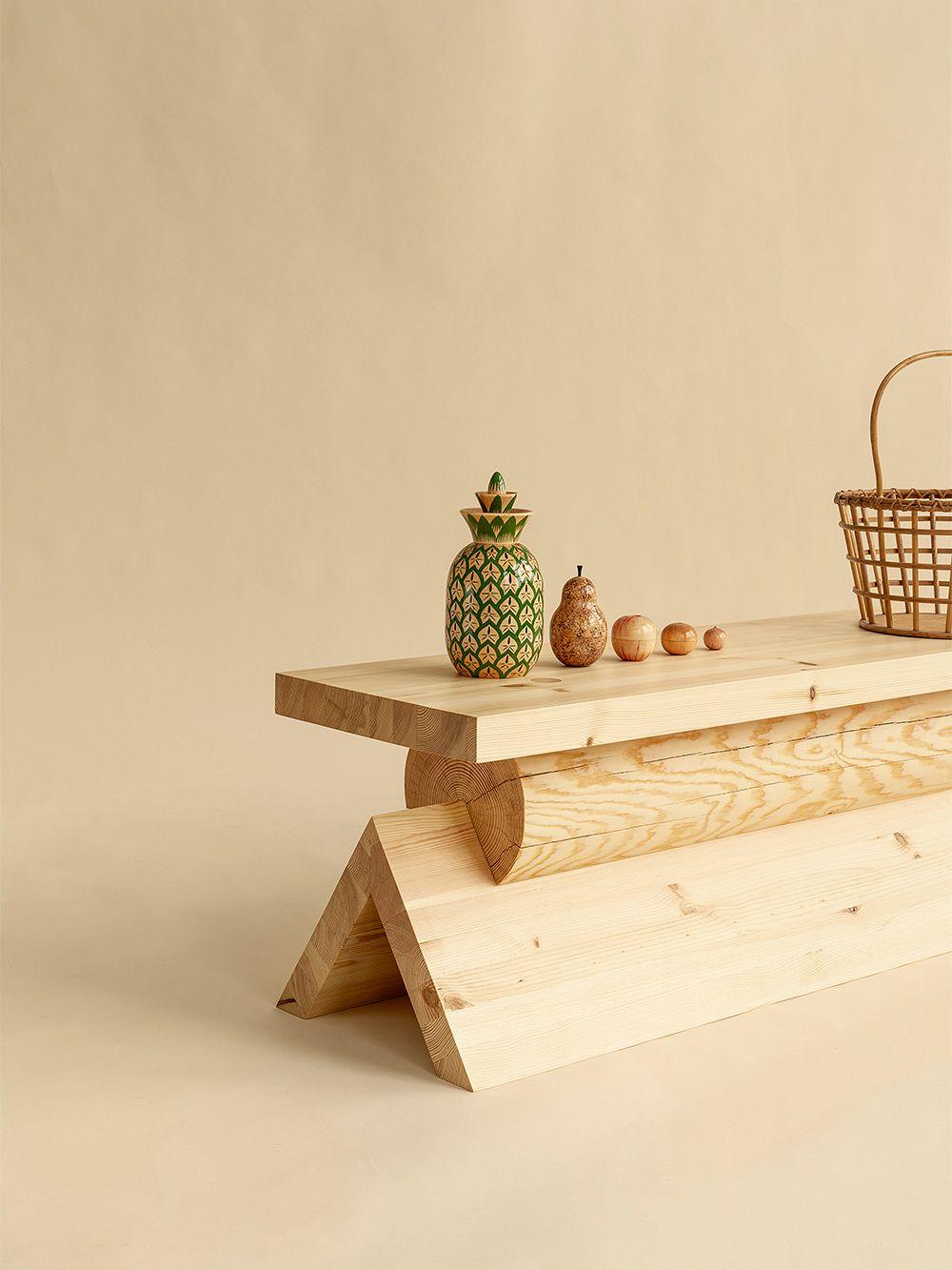 Vaarnii 007 AA bench, pine