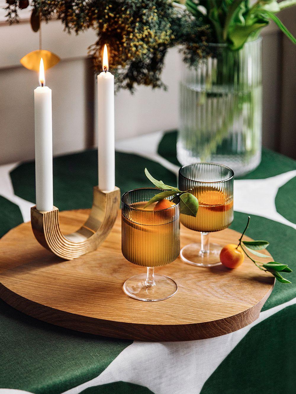 Ferm Living Ripple wine glasses, 2 pcs, smoked grey
