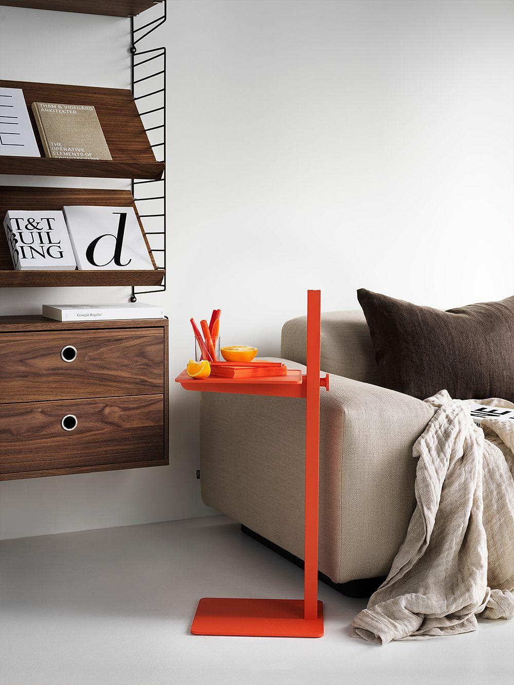 String Furniture Museum side table, orange