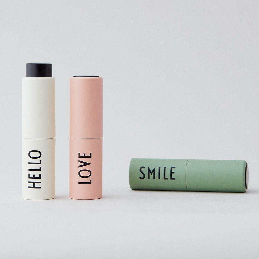 Design Letters Take Care hand sanitizer dispenser, nude