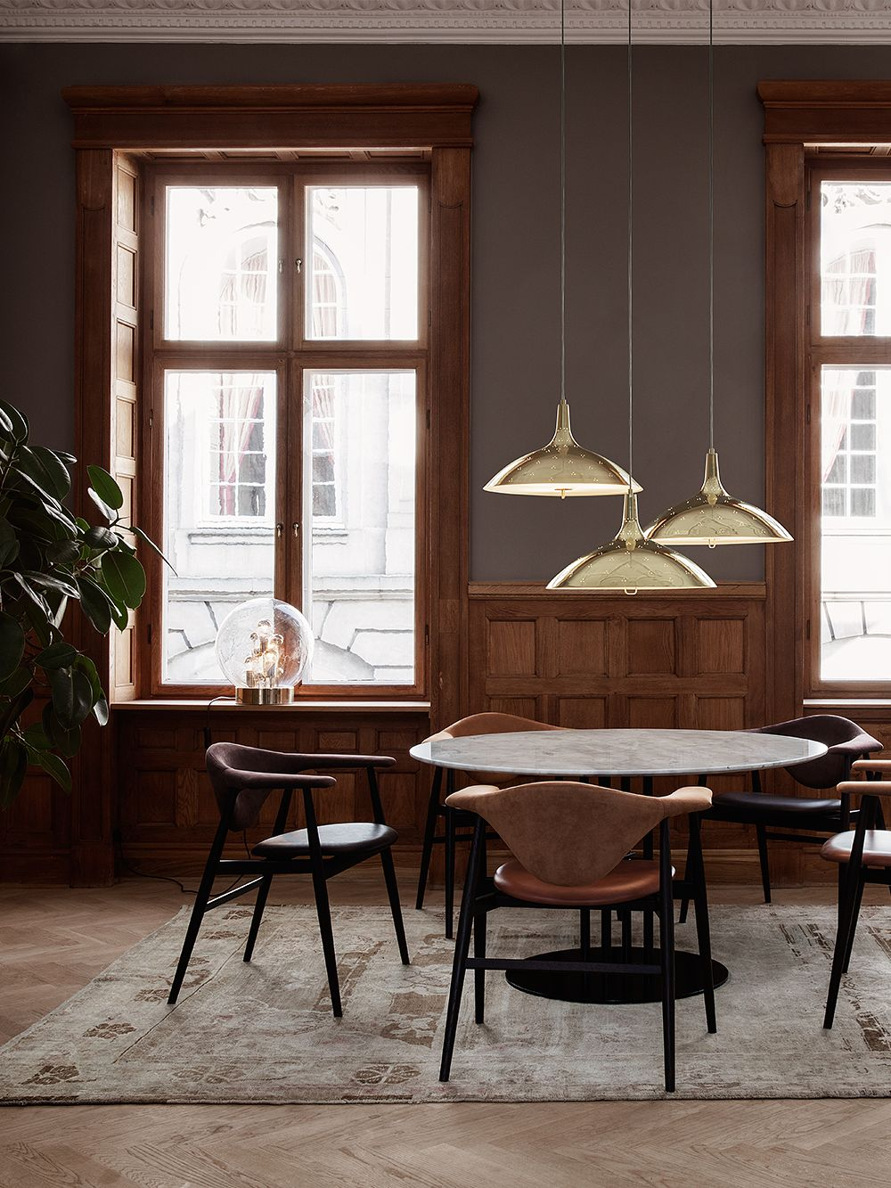 Gubi's 1965 pendant lights, design by Paavo Tynell
