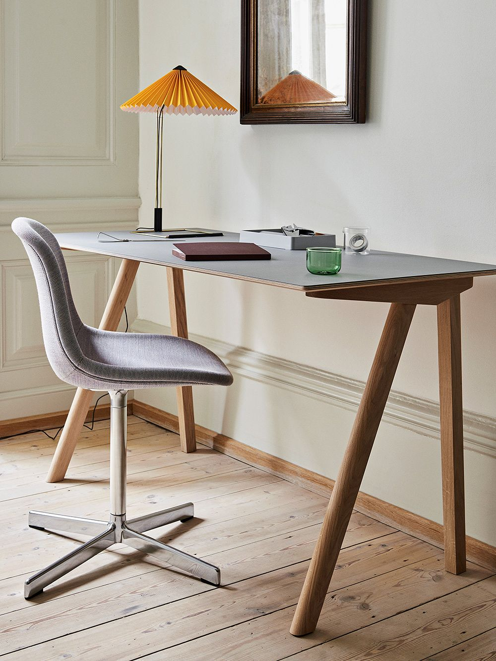 Hay CPH90 desk and Matin table lamp