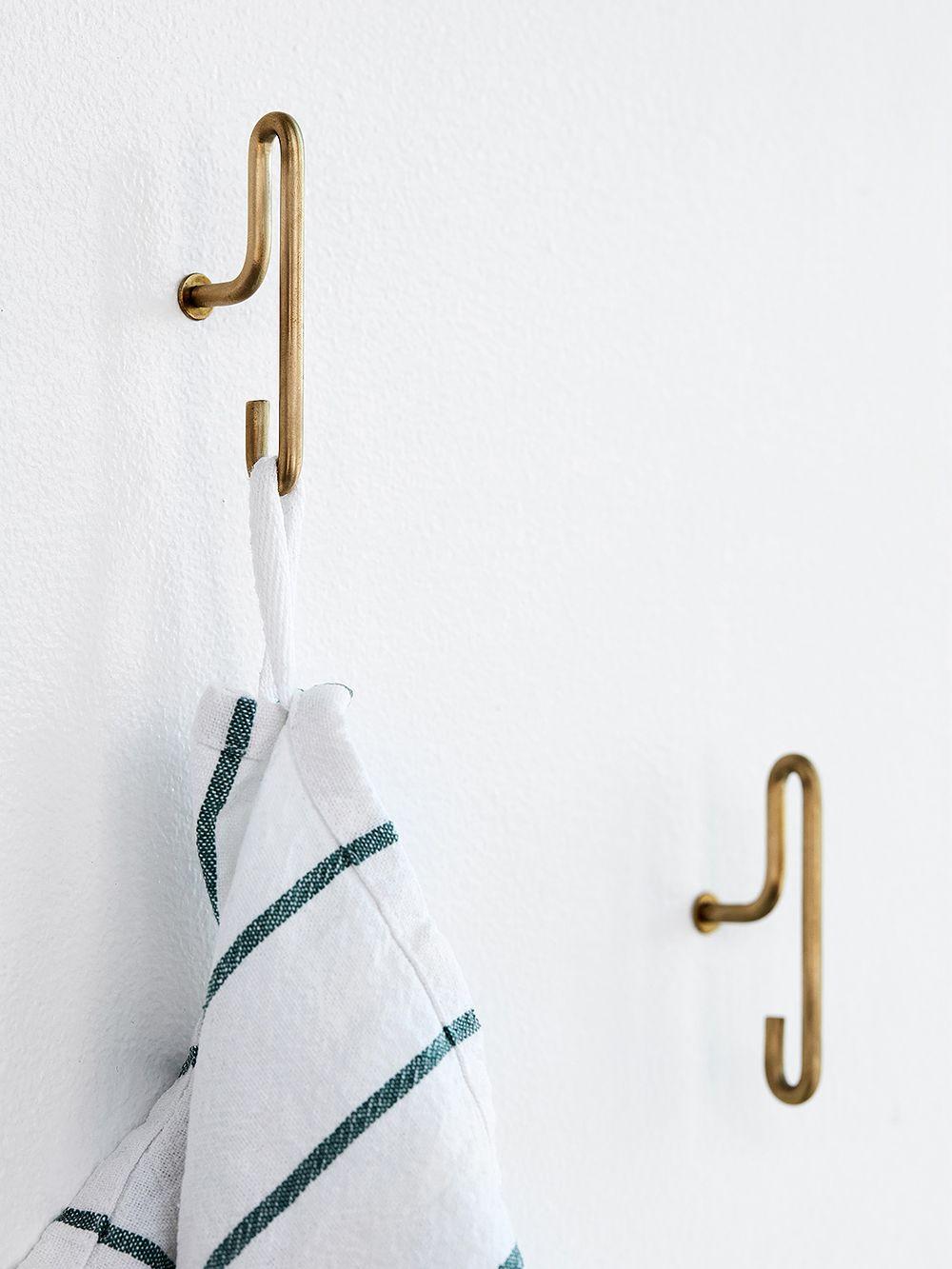 Moebe's brass wall hooks.