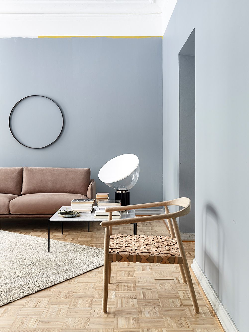 Taccia table lamp by Flos and Fay chair by Adea.
