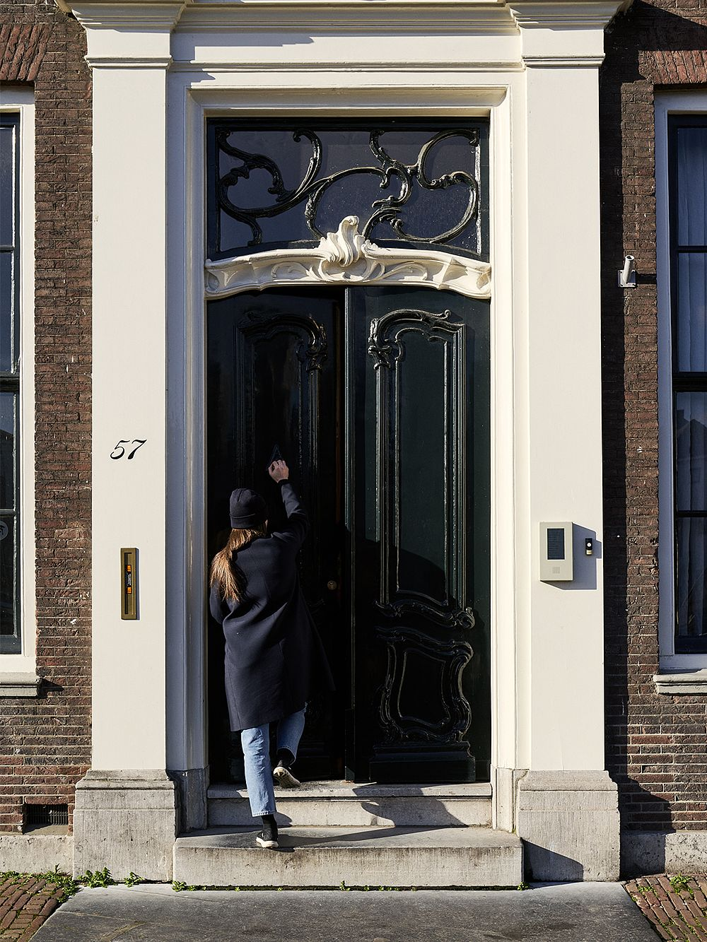 Rachel Griffin on her way to her workspace in Rotterdam.