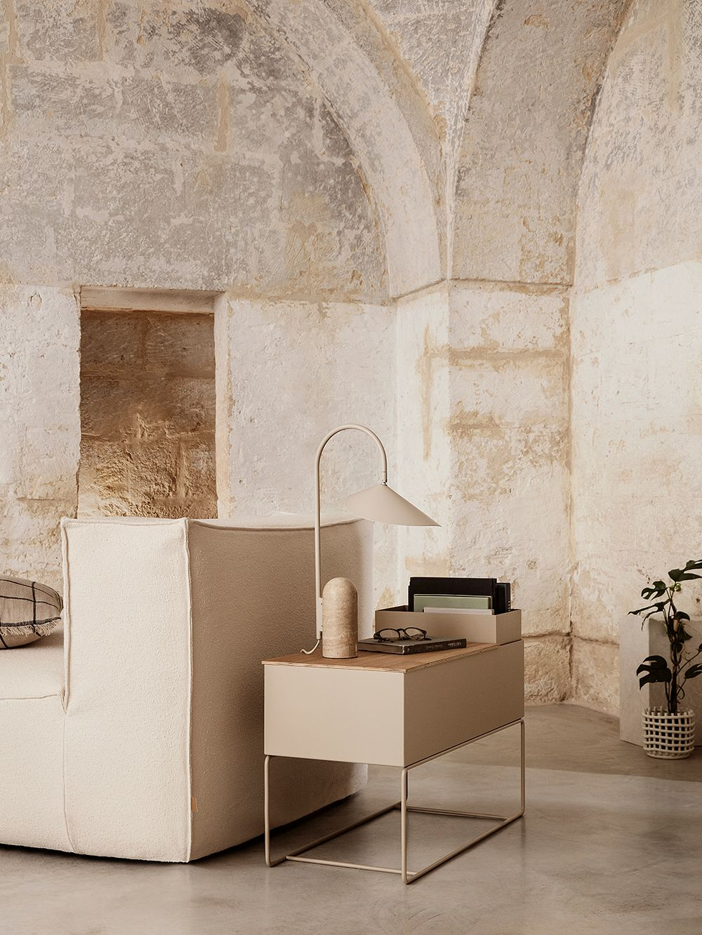 Ferm Living's Plant Box in a living room.
