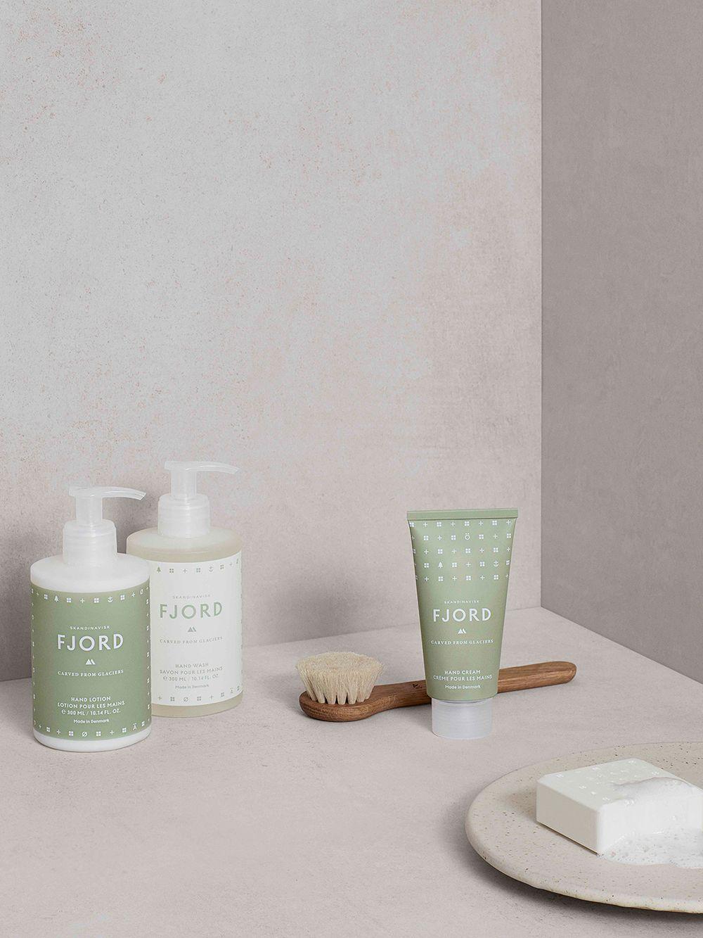 Skandinavisk's Fjord hand wash and hand cream.