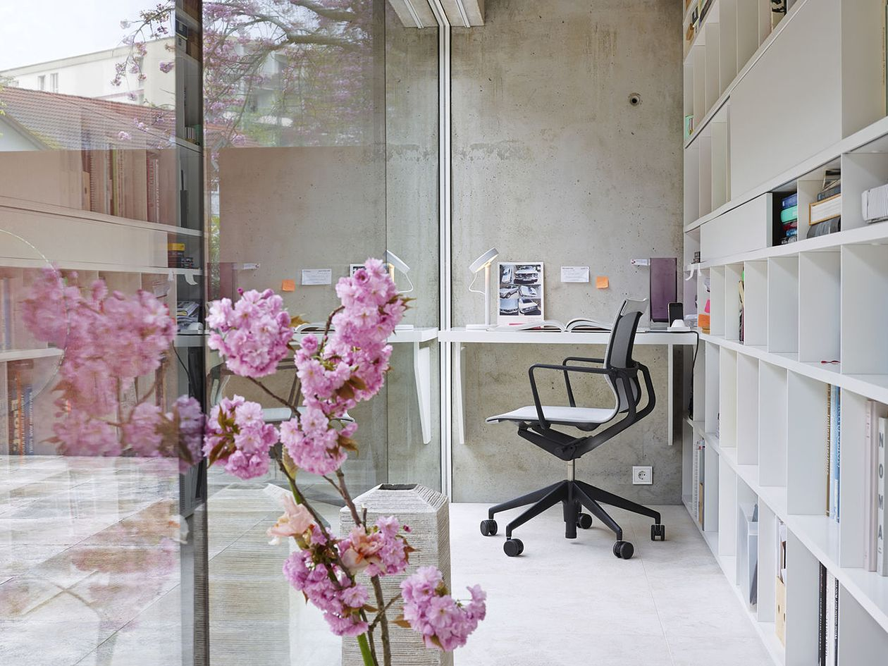 Vitra's Physix Studio office chair in a home office.