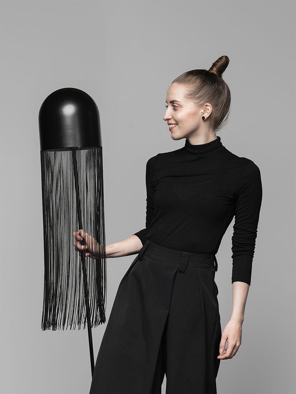 Hide floor lamp by Laura Väre