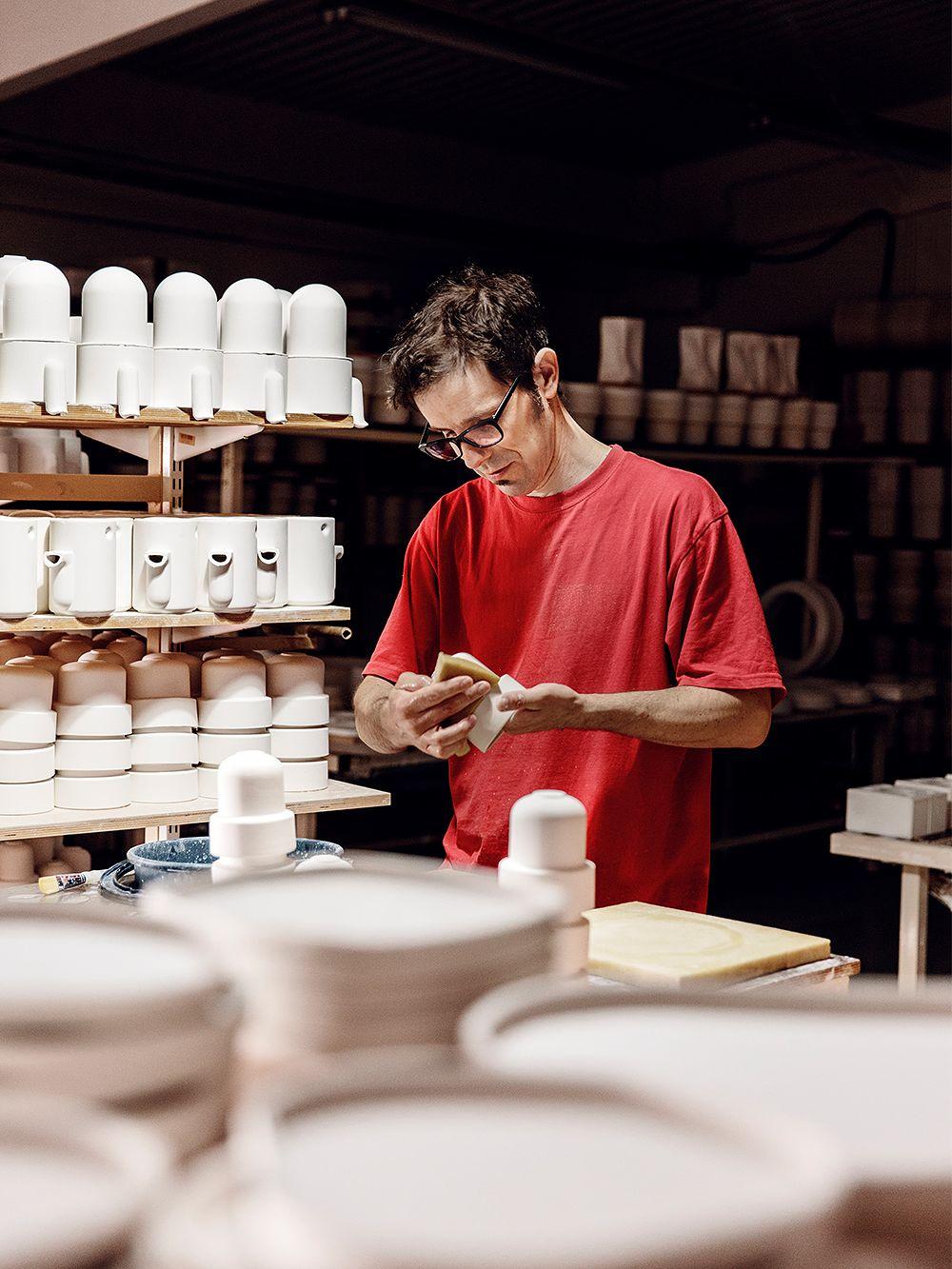 Brian Keaney at Tonfisk Design's workshop.