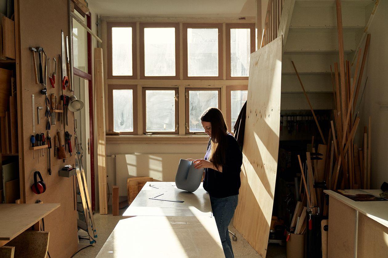 Rachel Griffin at her studio.