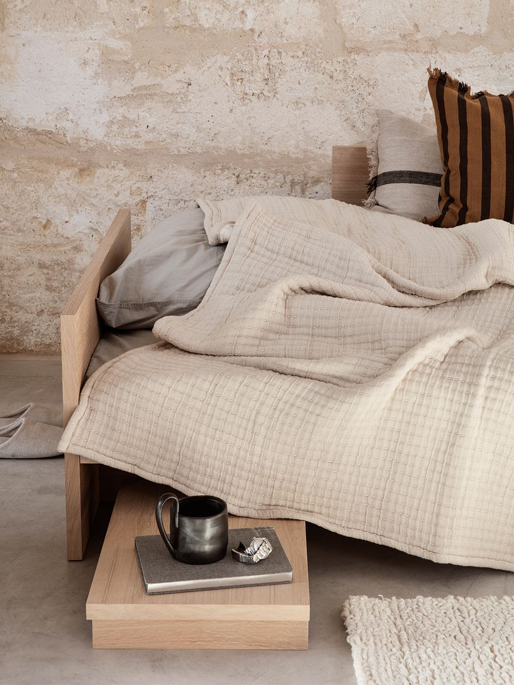 Ferm Living Daze bedspread in sand