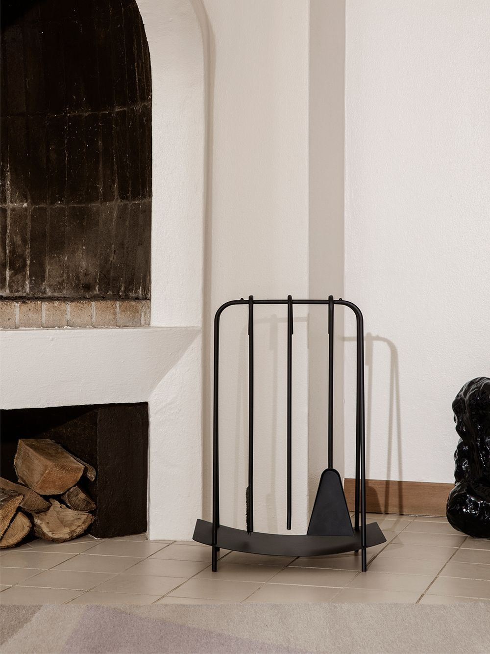 Ferm Living's Port fireplace tools