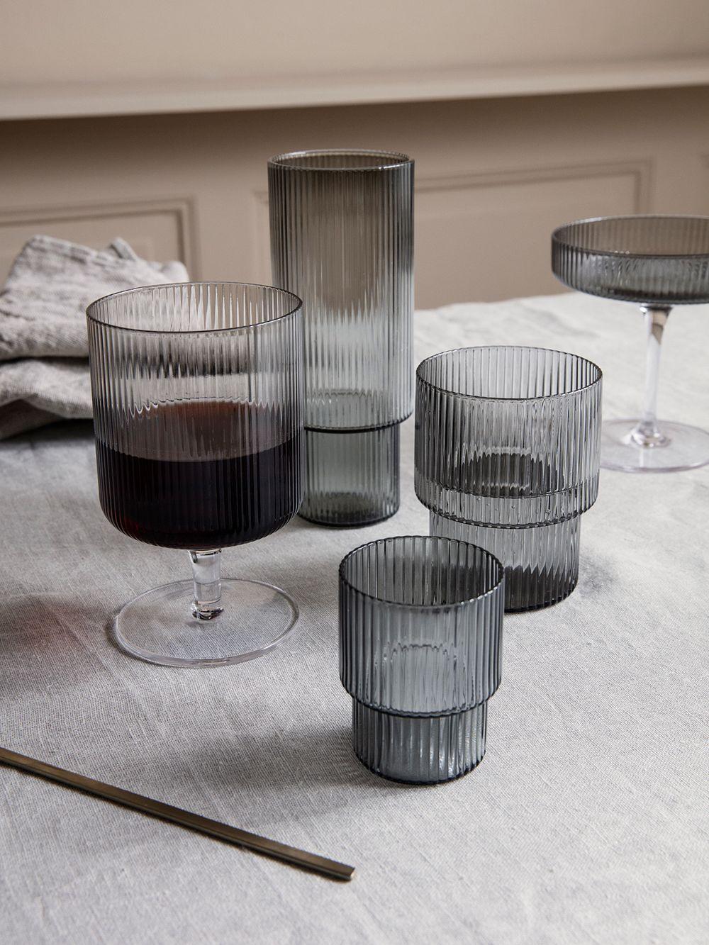 Ferm Living Ripple wine glasses