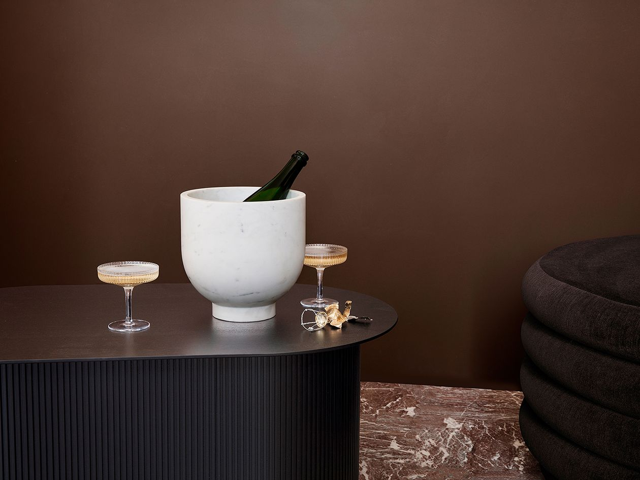 Ferm Living Ripple champagne saucers