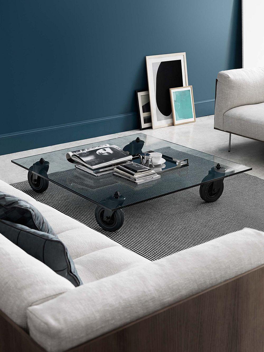 FontanaArte Tavolo con Ruote coffee table, 100 x 100 x 25 cm
