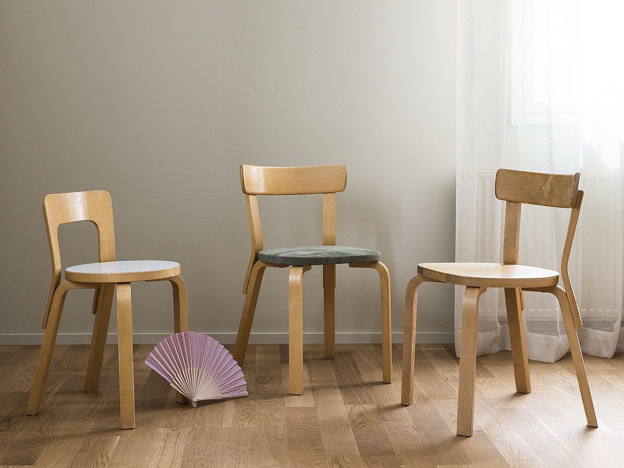 Artek Aalto chair 69, birch