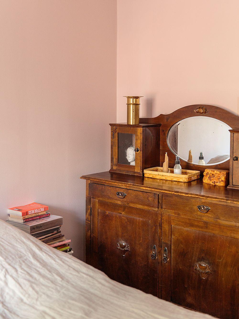 An antique cupboard in the bedroom