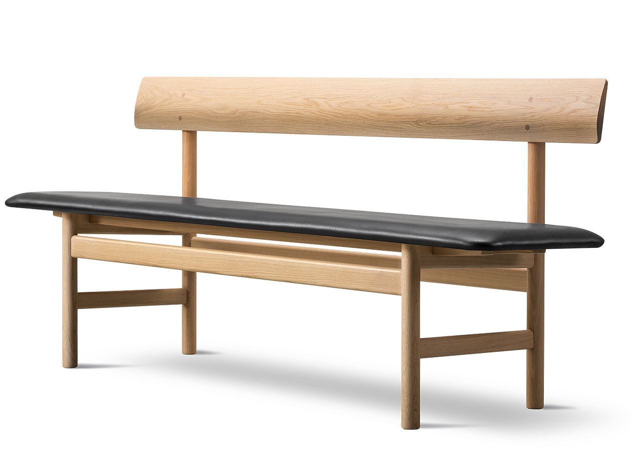 Mogensen 3171 bench, black leather