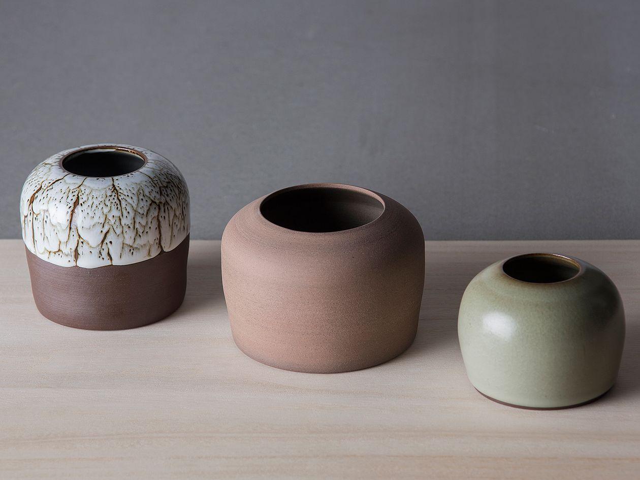 Set of Three Vases by Saija Hakola