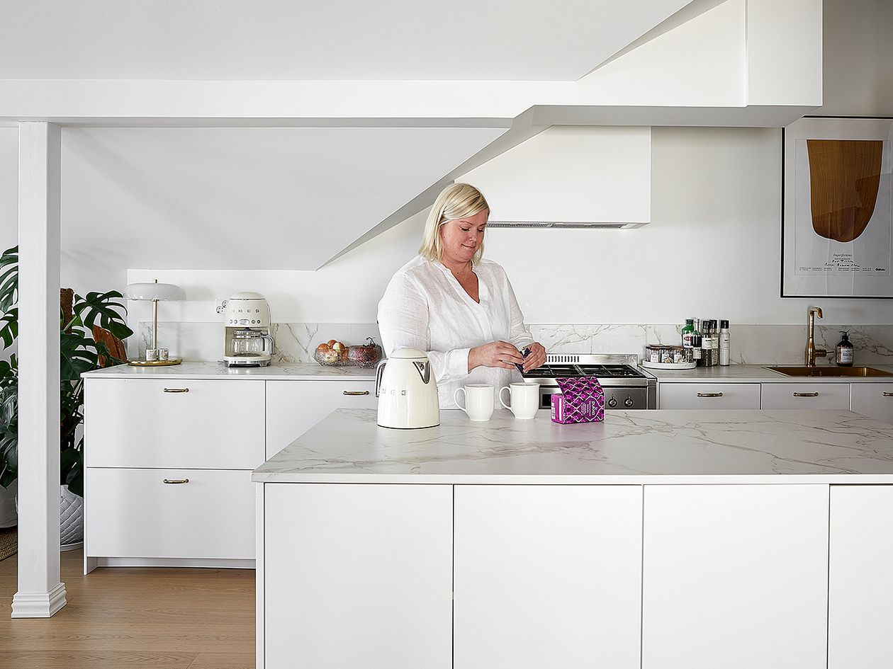 Kitchen in a summer home in Hanko