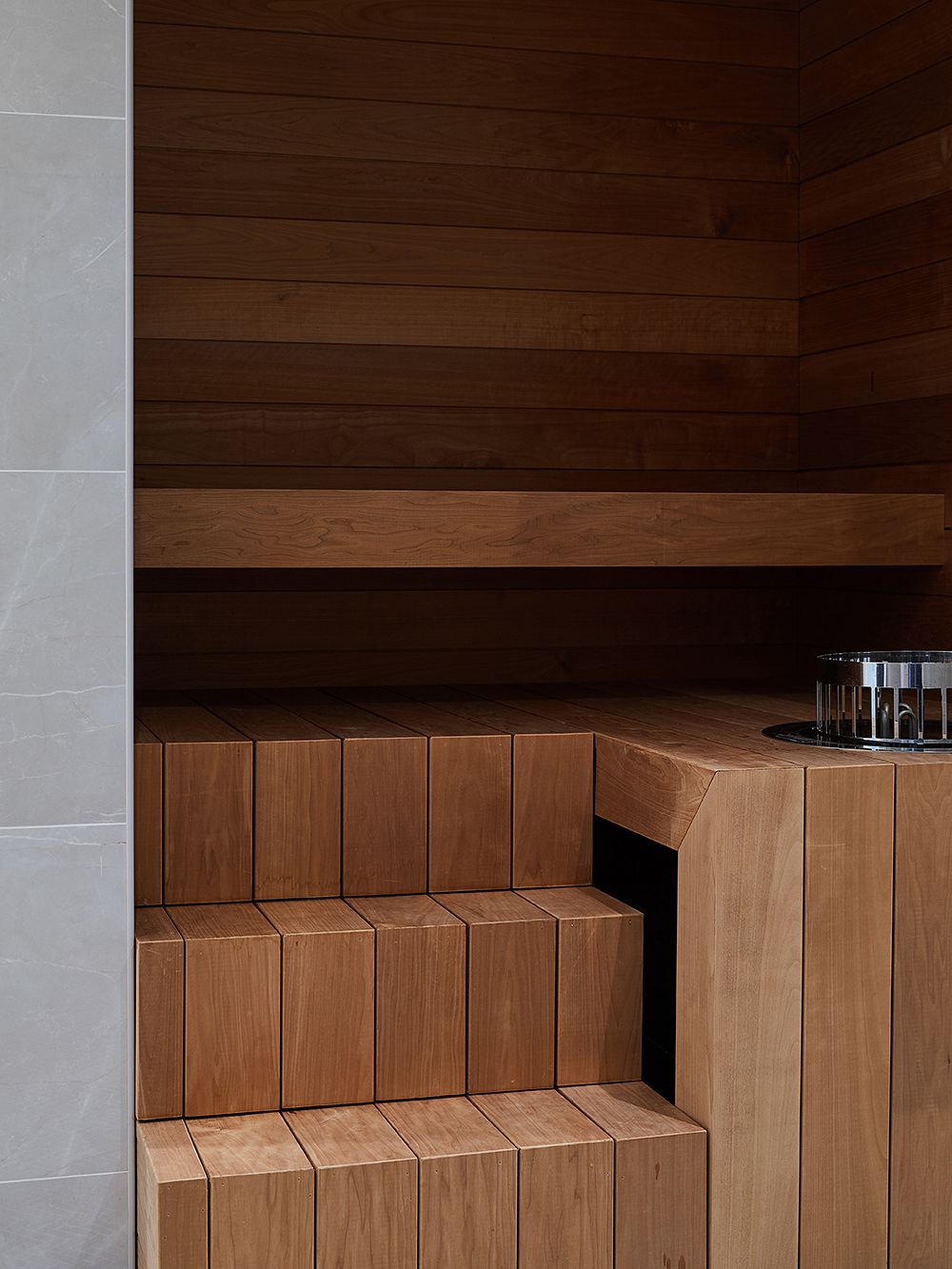 A modern Finnish sauna