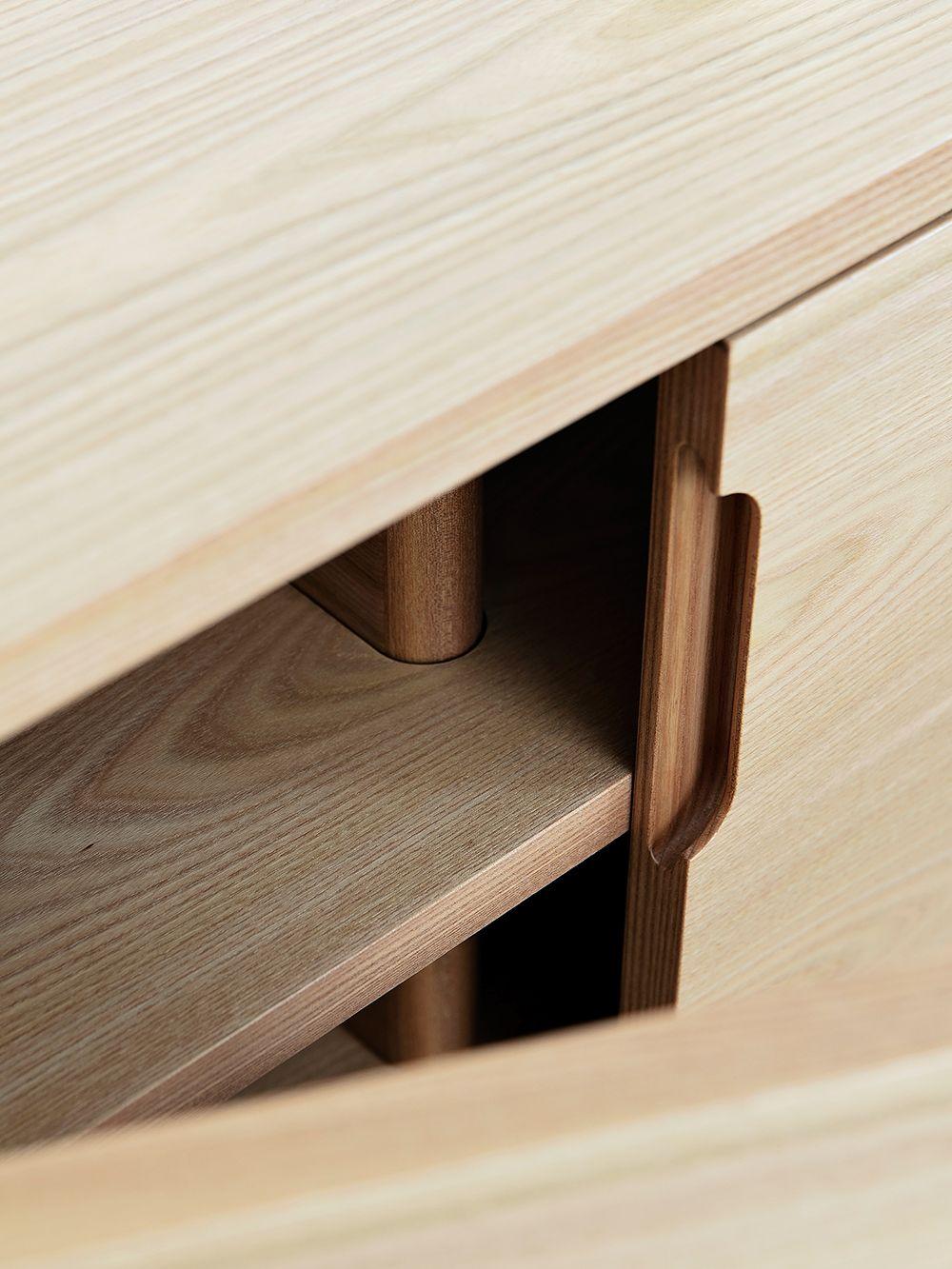Wooden Credenza Uno sideboard by Harri Koskinen
