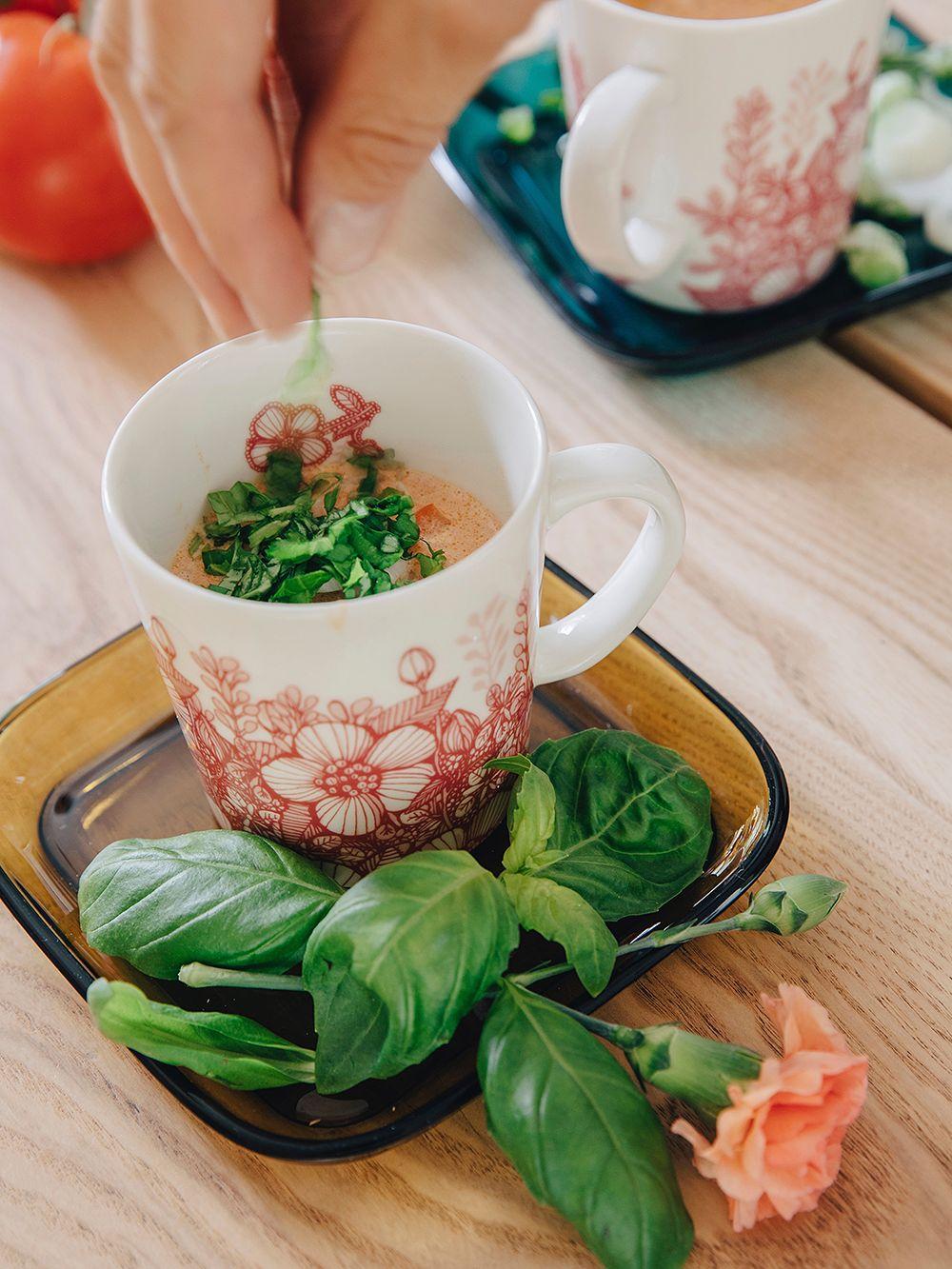 Ceramic artist Heini Riitahuhta's tomato soup