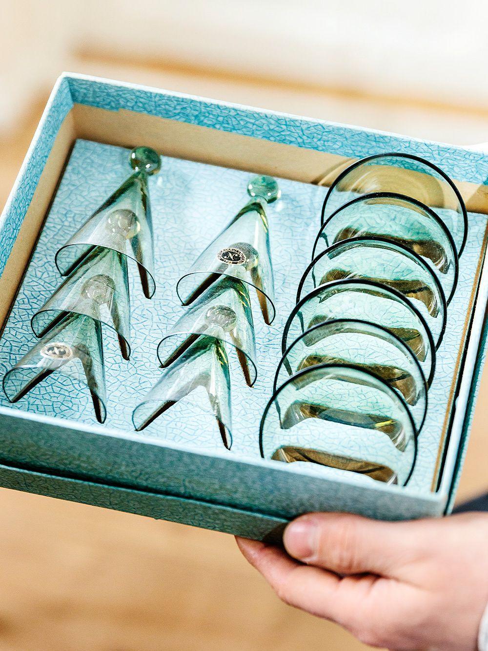 Nuutajärvi schnapps glasses by Kaj Franck