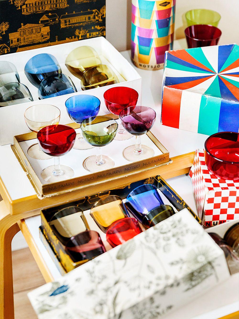 Nuutajärvi 1125 liqueur glasses by Saara Hopea