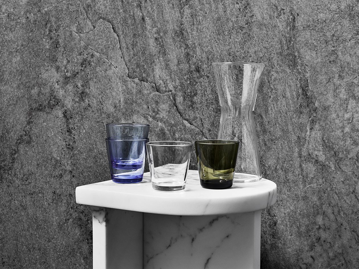 Iittala Kartio tumblers and pitcher