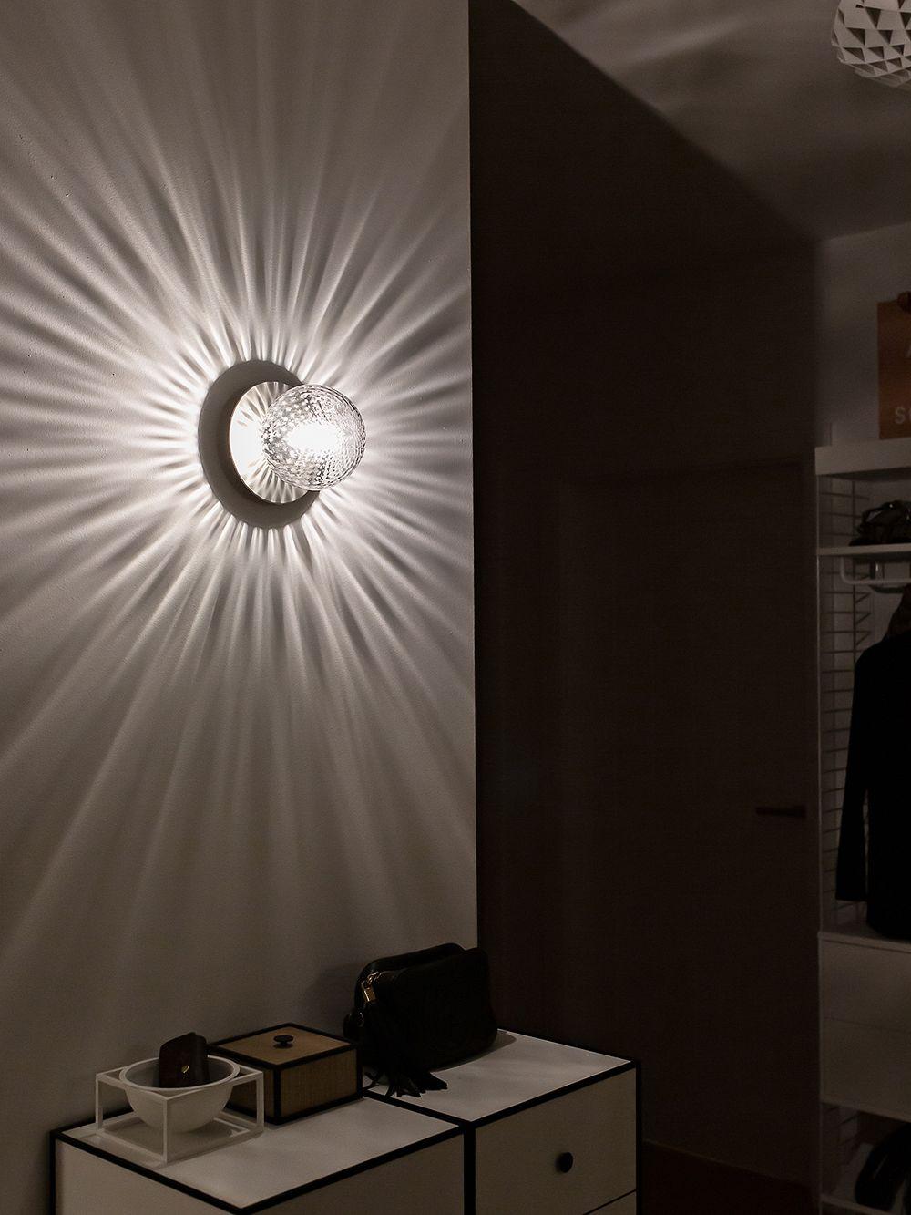 Nuura Liila 1 wall/ceiling lamp, medium, silver - clear