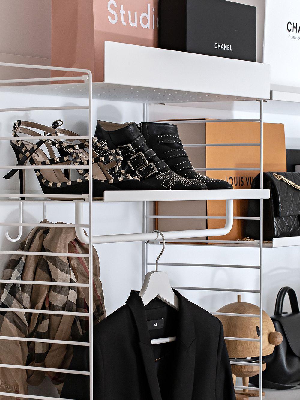 String Furniture String hooks for metal shelf, 5-pack, white