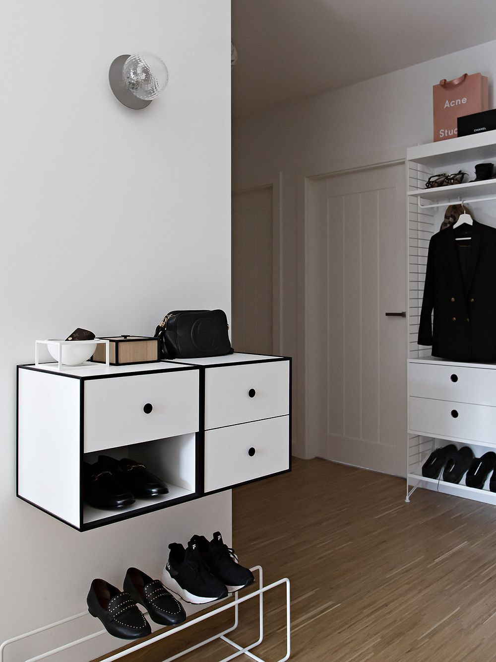 Showroom Finland Mixrack shoe rack M, white