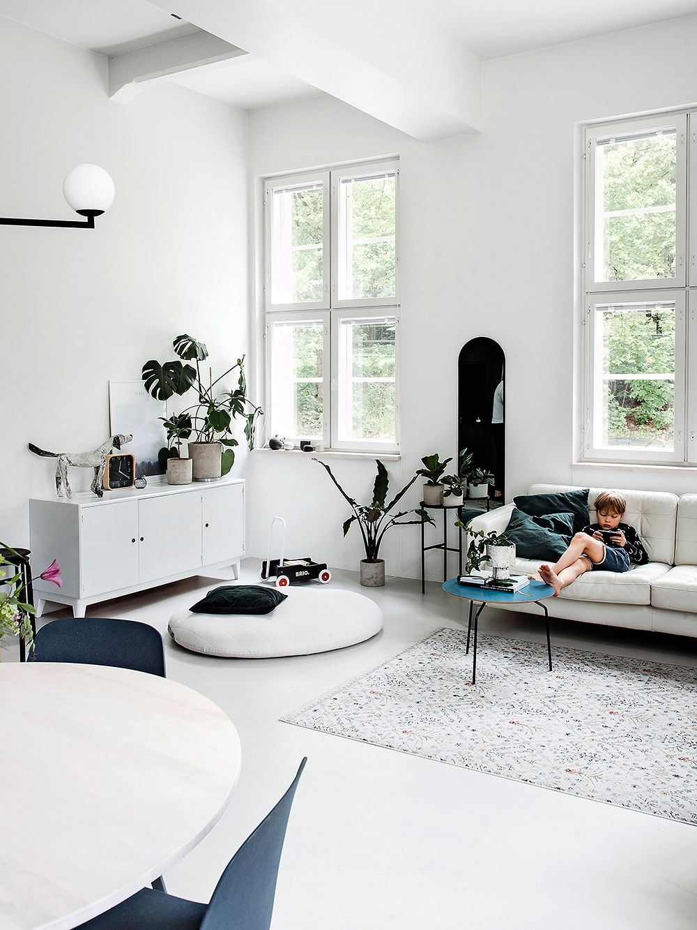 Loft living in an old fire station