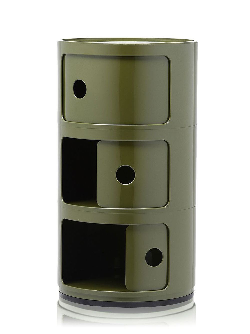 Kartell Componibili storage unit in green
