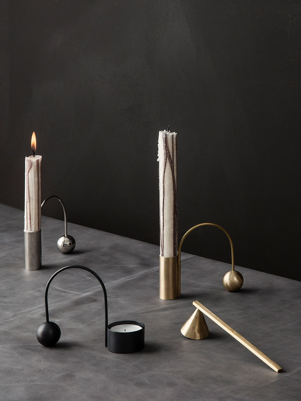 Ferm Living candle snuffer in brass
