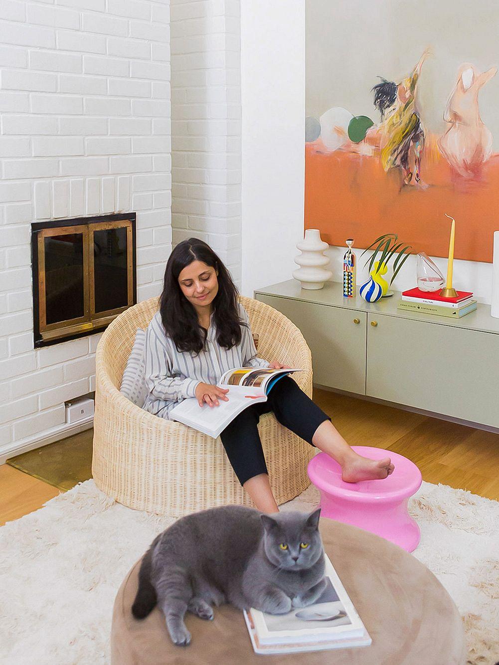 Lela Louhio in her home in Helsinki