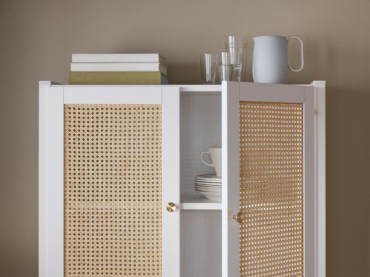 Lundia Classic cabinet with rattan doors