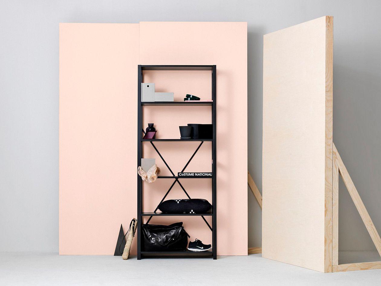 Lundia Classic open shelf, high, black