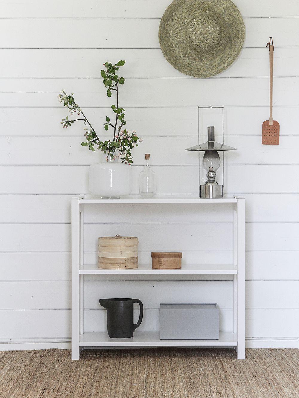 Lundia Classic open shelf, low, white