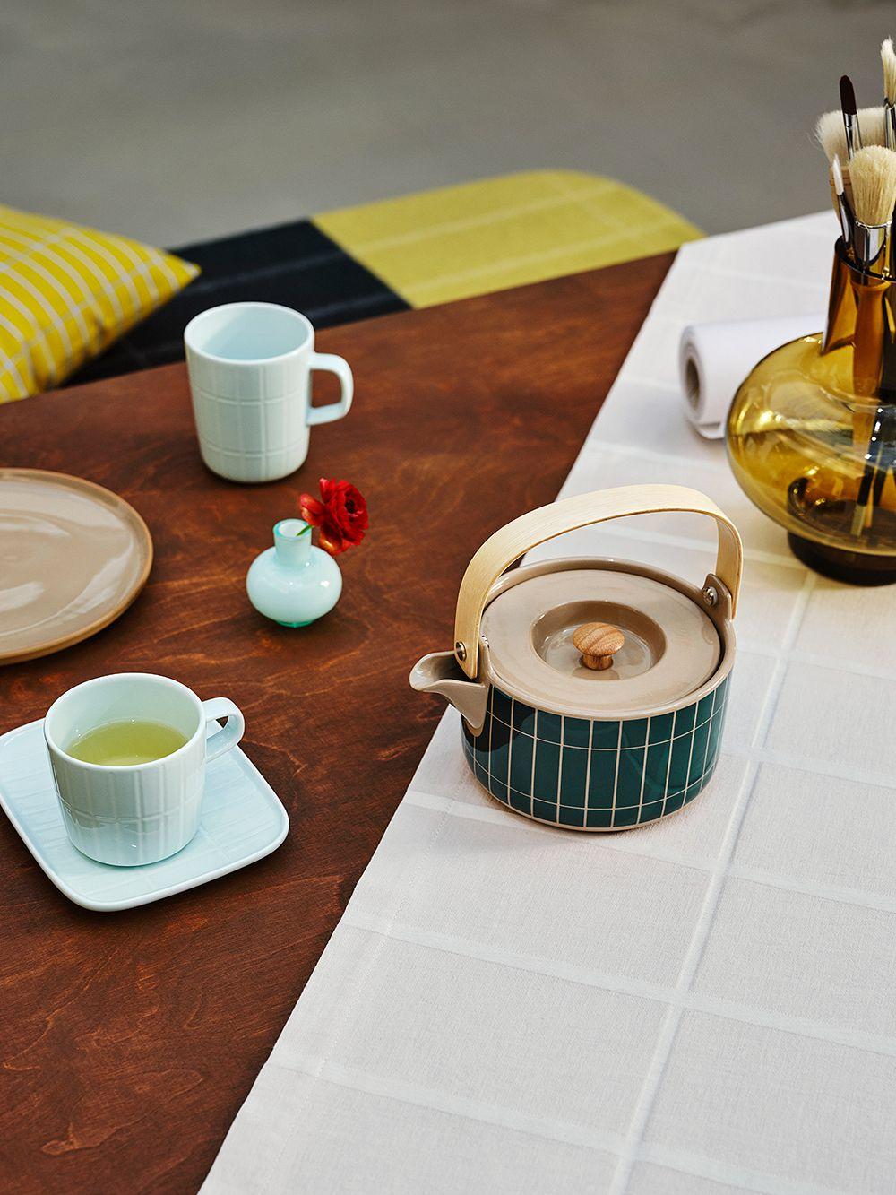 Marimekko Oiva - Tiiliskivi teapot 0,7 L, terra - dark green