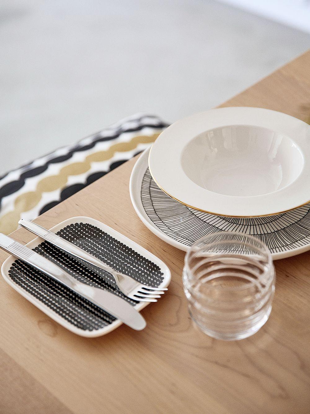 Marimekko Oiva anniversary deep plate