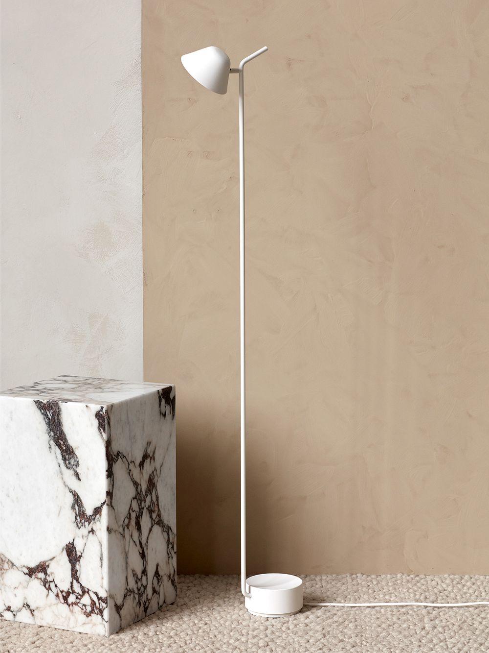 Menu Plinth side table in marble