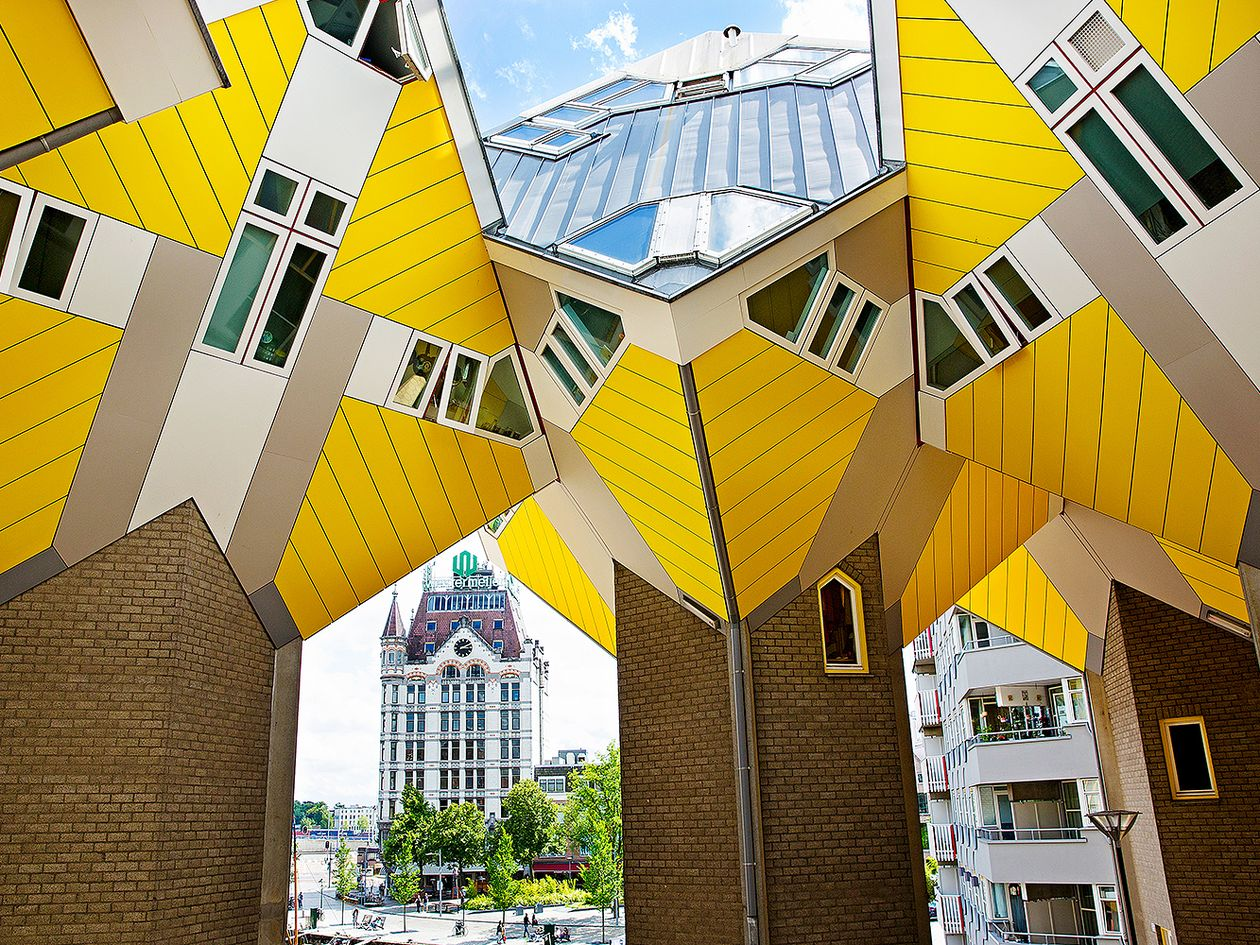 Kubuswoningen by Piet Blom in Rotterdam