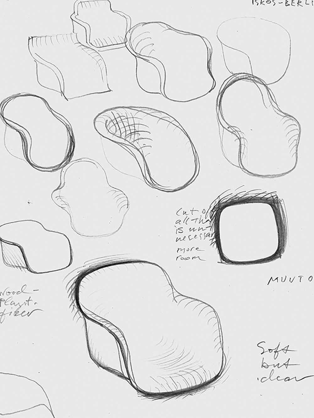 Sketches for the Fiber chair by Muuto