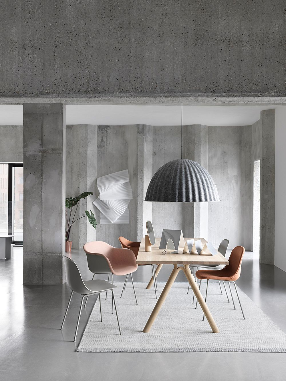 Muuto Fiber side chair, tube base, grey