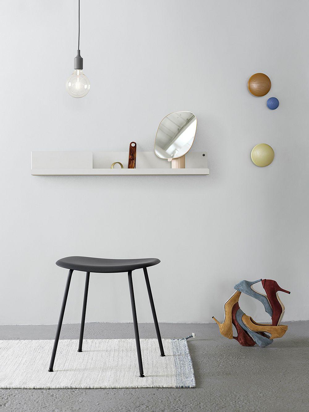 Muuto Fiber stool, tube base, black